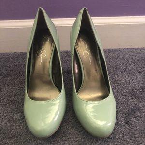 Jessica Simpson Pastel Green Heels